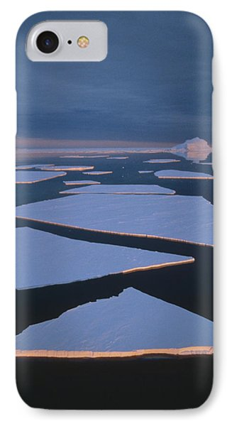 Broken Fast Ice Under Midnight Sun East Phone Case by Tui De Roy