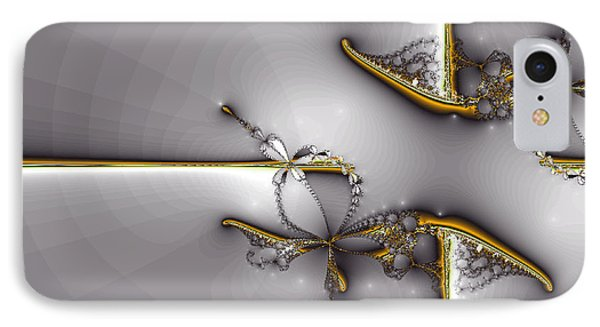 Broken Jewelry-fractal Art IPhone Case by Lourry Legarde