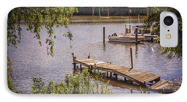 Broken Pier And Sunken Boat IPhone Case by Brian Wallace