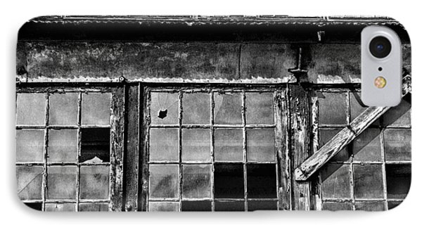 Broken Windows In Black And White Phone Case by Paul Ward