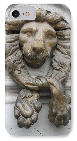 IPhone Case featuring the photograph Bronze Lion by Pema Hou