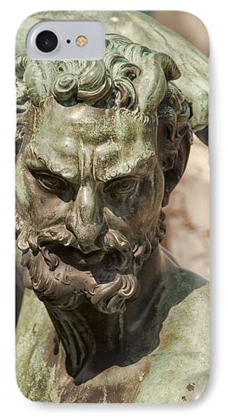 Bronze Satyr In The Fountain Of Neptune Of Florence Phone Case by Melany Sarafis