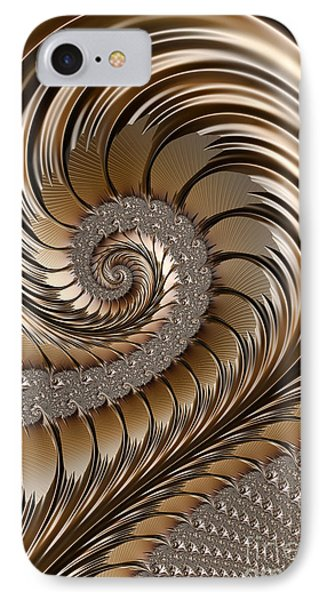Bronze Scrolls Abstract IPhone Case by John Edwards