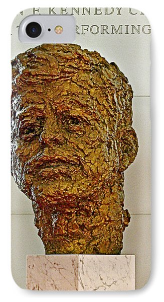 Bronze Sculpture Of President Kennedy In The Kennedy Center In Washington D C  IPhone Case