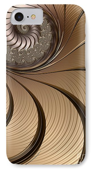 Bronze Spiral IPhone Case by John Edwards