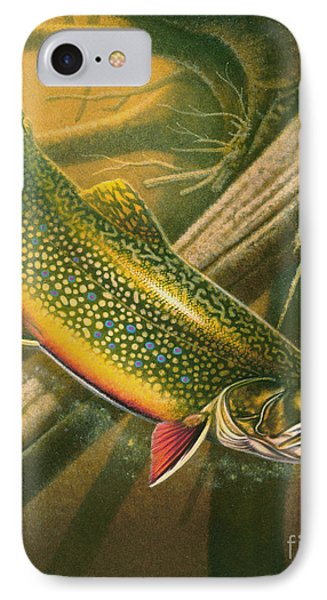 Brook Trout  Hideaway Phone Case by Jon Q Wright