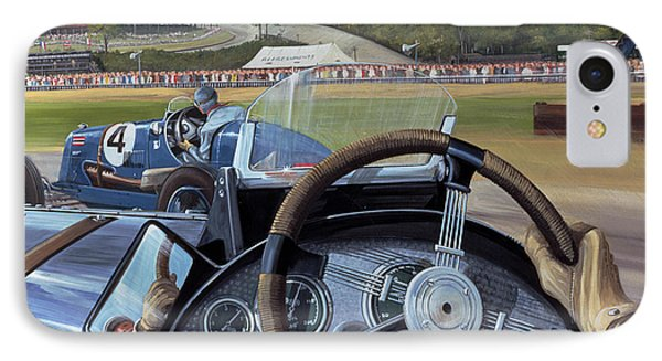 Brooklands - From The Hot Seat IPhone Case by Richard Wheatland