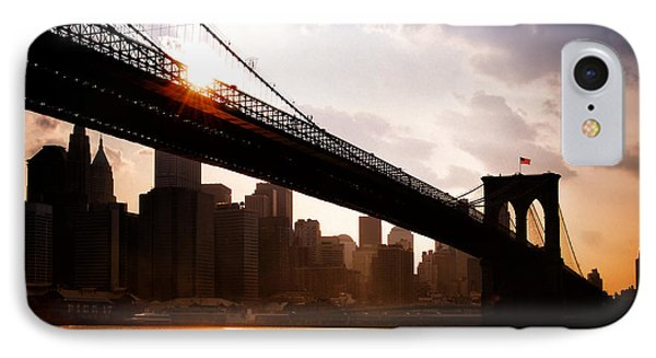 Brooklyn Bridge And Skyline Manhattan New York City IPhone Case by Sabine Jacobs