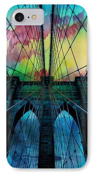 City Scenes iPhone 7 Case - Psychedelic Skies by Az Jackson