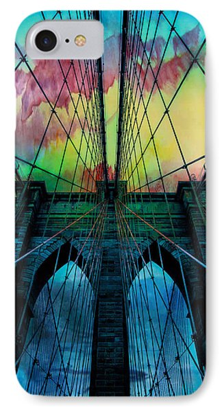 Psychedelic Skies IPhone 7 Case by Az Jackson