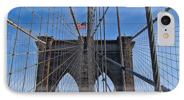 IPhone Case featuring the photograph Brooklyn Bridge by David Gleeson