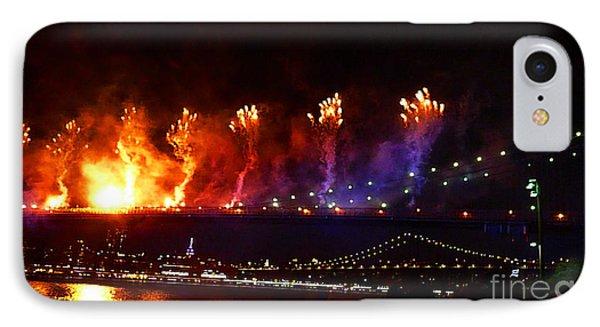 Brooklyn Bridge Fireworks IPhone Case
