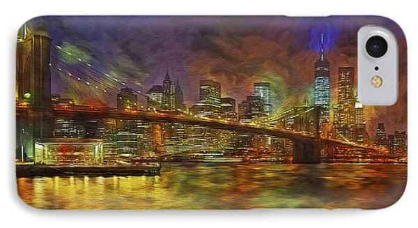 Brooklyn Bridge Impressionism IPhone Case by Susan Candelario
