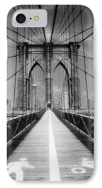IPhone Case featuring the photograph Brooklyn Bridge Infrared by Dave Beckerman