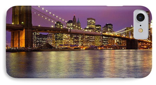 Brooklyn Bridge Phone Case by Inge Johnsson