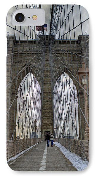 IPhone Case featuring the photograph Brooklyn Bridge by Jerry Gammon