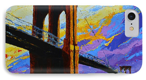 Brooklyn Bridge New York Landmark IPhone Case by Patricia Awapara