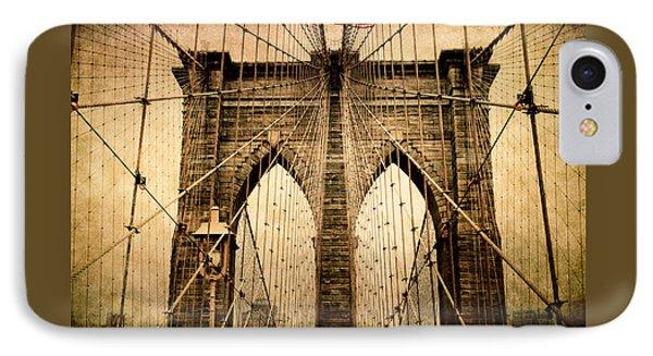 Brooklyn Bridge Nostalgia IPhone 7 Case by Jessica Jenney