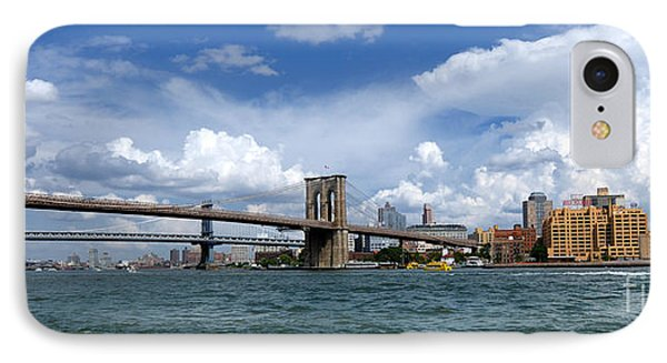 Brooklyn Bridge Panorama IPhone Case by Amy Cicconi