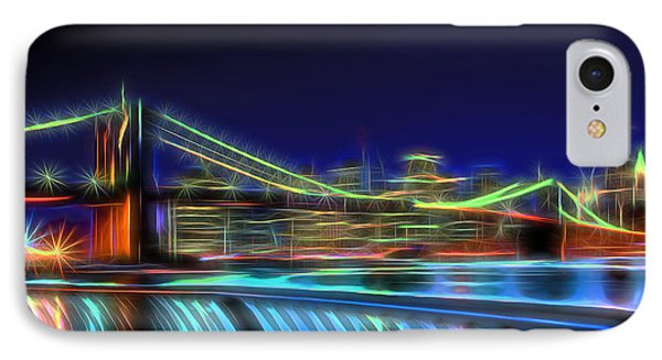 Brooklyn Bridge Neon Panoramic IPhone Case