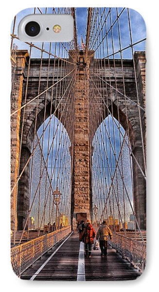 IPhone Case featuring the photograph Brooklyn Bridge by Paul Fearn