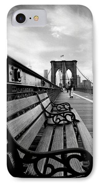 Brooklyn Bridge Promenade IPhone Case by Jessica Jenney