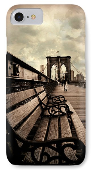 Brooklyn Bridge Respite IPhone Case by Jessica Jenney
