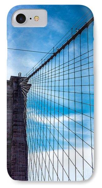 Brooklyn Bridge Suspense IPhone Case by Rafael Quirindongo