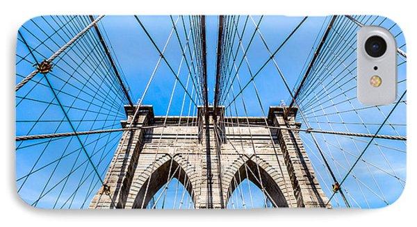 Brooklyn Bridge Suspension IPhone Case by Rafael Quirindongo