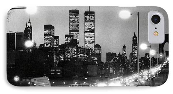 Brooklyn Bridge Traffic II Dusk 1980s IPhone Case