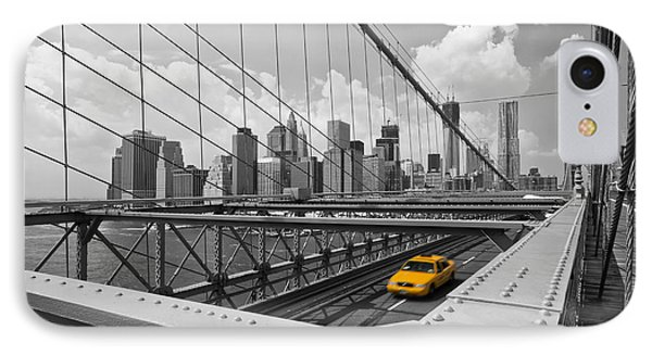 Brooklyn Bridge View Nyc IPhone Case by Melanie Viola