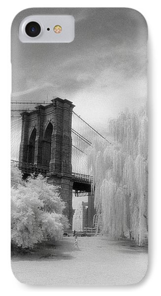 Brooklyn Bridge Willows IPhone 7 Case by Dave Beckerman