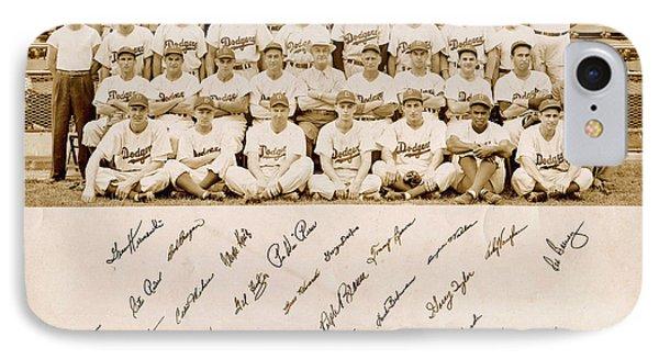 Brooklyn Dodgers Baseball Team IPhone Case