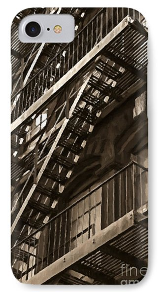Brooklyn Fire Escapes IPhone Case by Diane Diederich