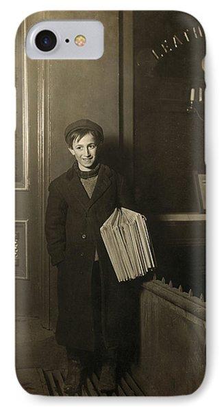 Brooklyn Newsboy, 1909 IPhone Case by Granger