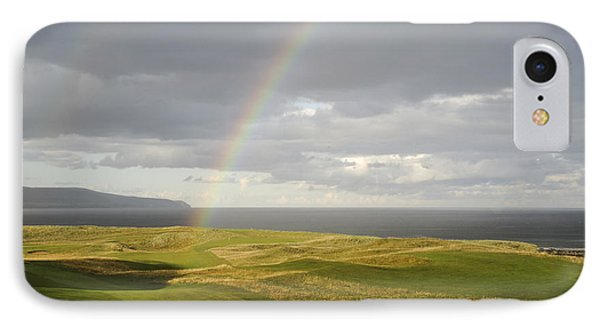 Brora Golf Course Rainbow IPhone Case by Sally Ross