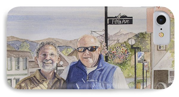 IPhone Case featuring the painting Bros by Carol Flagg