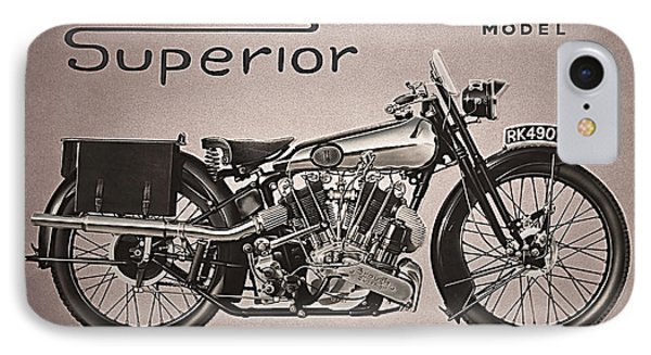 IPhone Case featuring the photograph Brough Superior  by Tammy Schneider