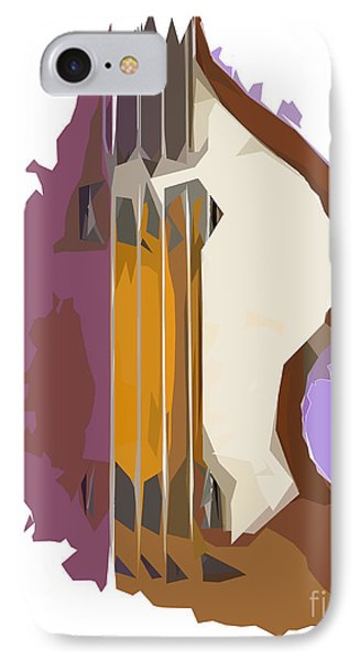 Brown Bass Purple Background 2 IPhone Case