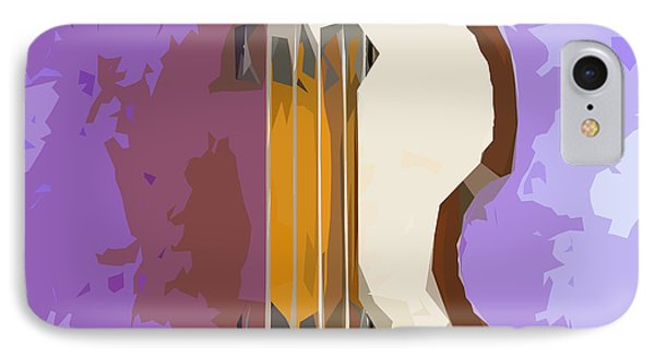 Brown Bass Purple Background 5 IPhone Case