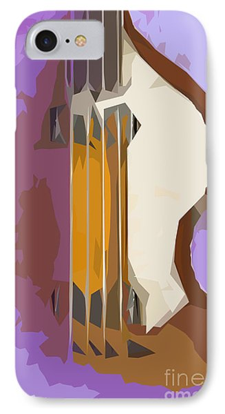 Brown Bass Purple Background IPhone Case