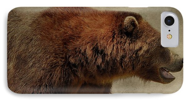 Brown Bear Hunting IPhone Case