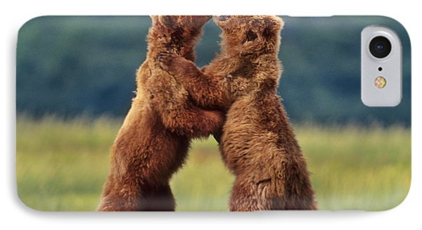Brown Bears Sparring Phone Case by Frans Lanting MINT Images