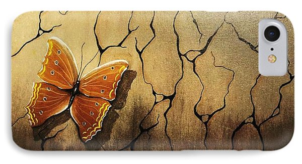 Brown Butterfly IPhone Case by Edwin Alverio
