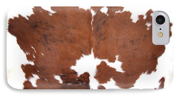IPhone Case featuring the photograph Brown Cowhide by Gunter Nezhoda