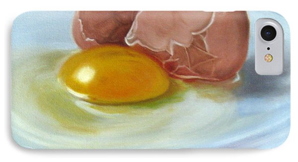 IPhone Case featuring the painting Brown Egg Study by LaVonne Hand