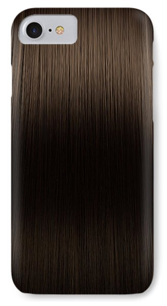Brown Hair Perfect Straight IPhone Case
