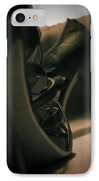 Brown High Heels Stylish Shoes IPhone Case