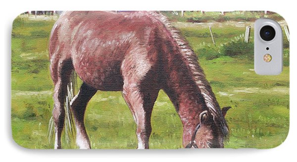 Brown Horse By Stables Phone Case by Martin Davey