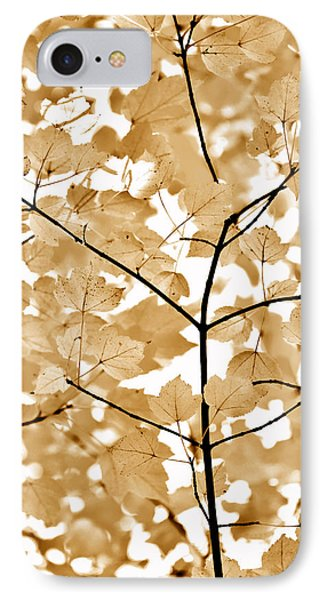 Brown Leaves Melody Phone Case by Jennie Marie Schell